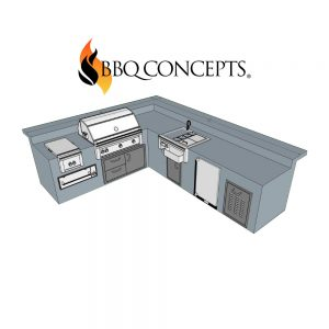 Custom Outdoor Kitchen Design - BBQ Concepts