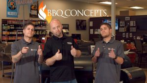 From right to left, Emon Mahban, John Cerul, Omid Mahban. The BBQ Concepts team is here to help you design and build the ultimate outdoor living area.